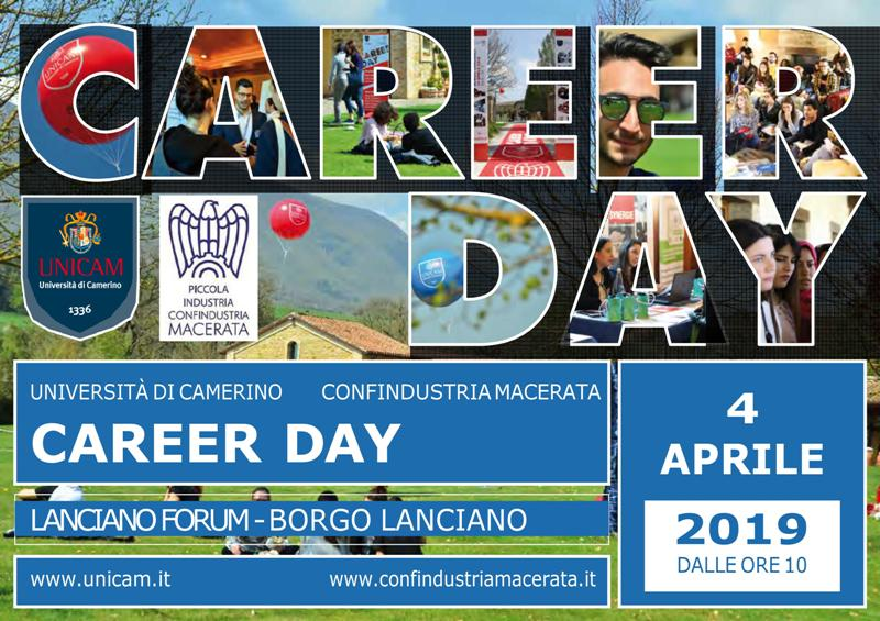 SAVE THE DATE: CAREER DAY 2019 - 4 APRILE 2019